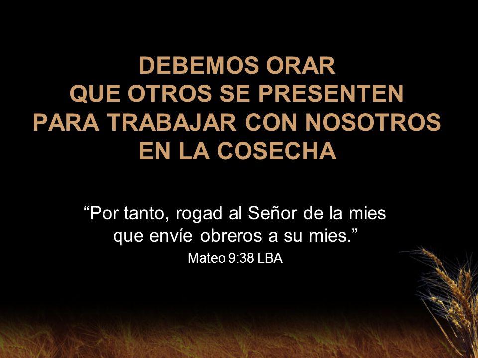 Por tanto, rogad al Señor de la mies que envíe obreros a su mies.