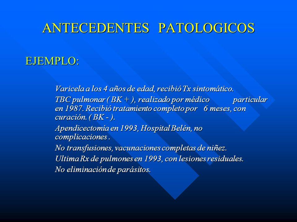 ANTECEDENTES PATOLOGICOS