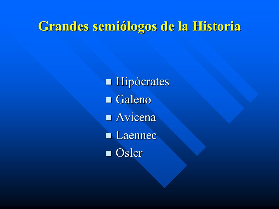 Grandes semiólogos de la Historia