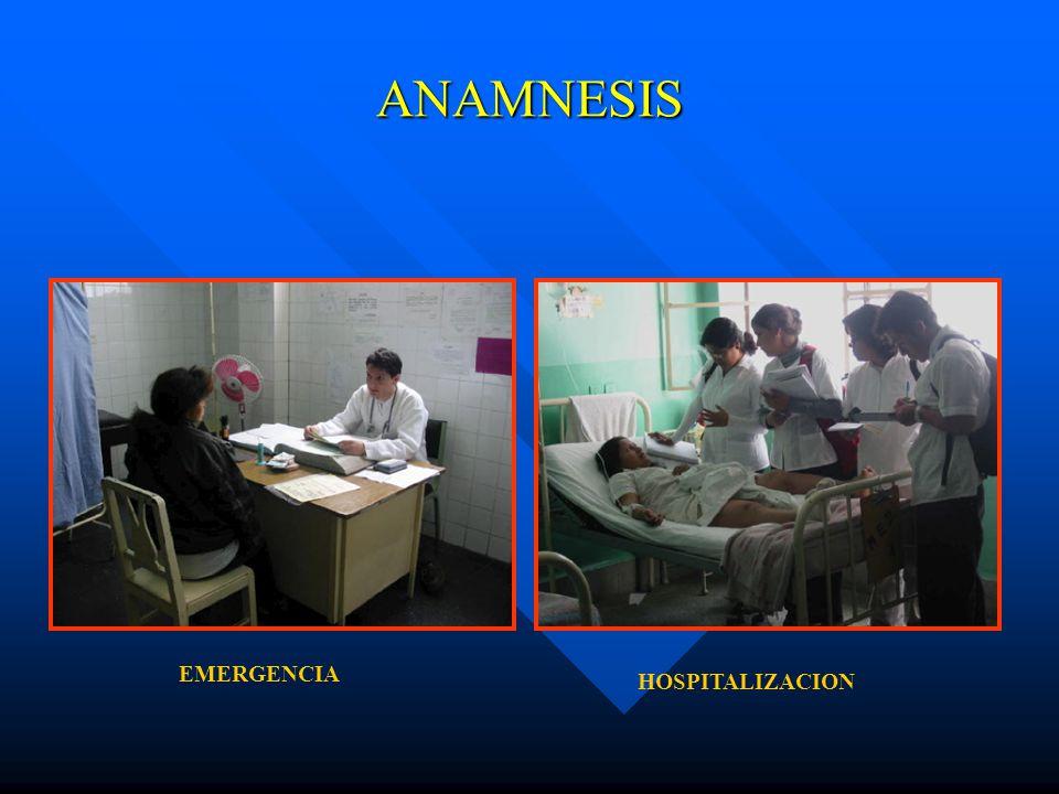 ANAMNESIS EMERGENCIA HOSPITALIZACION