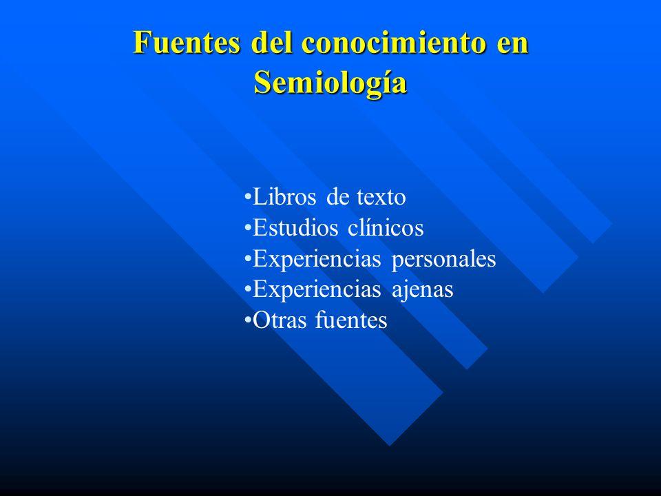 Fuentes del conocimiento en Semiología