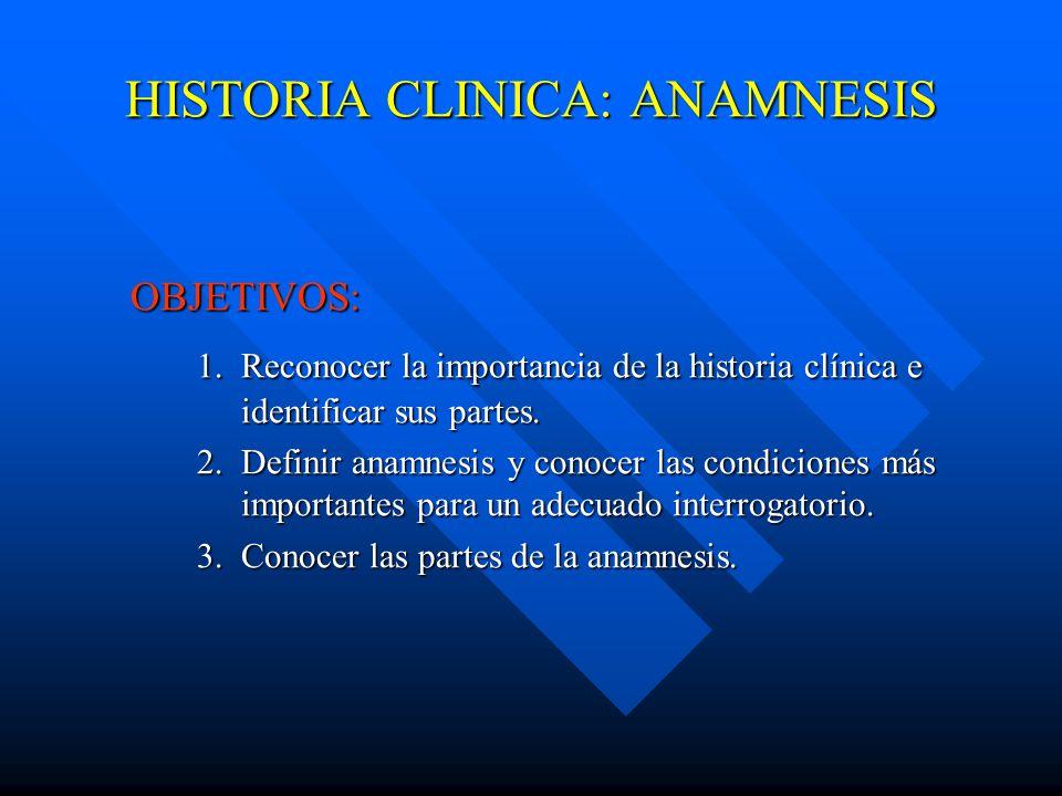 HISTORIA CLINICA: ANAMNESIS