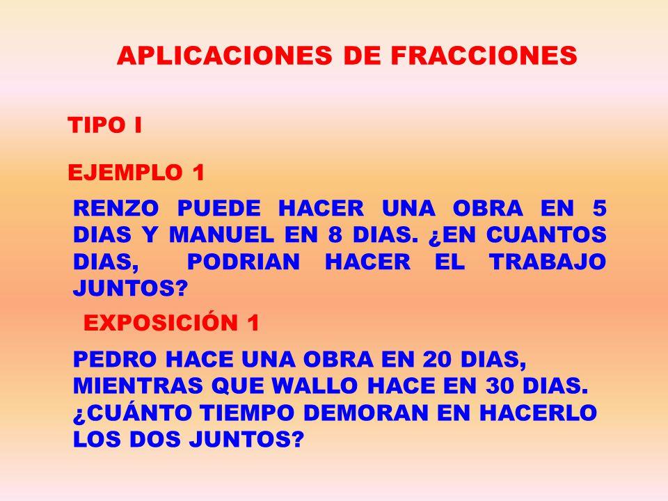APLICACIONES DE FRACCIONES