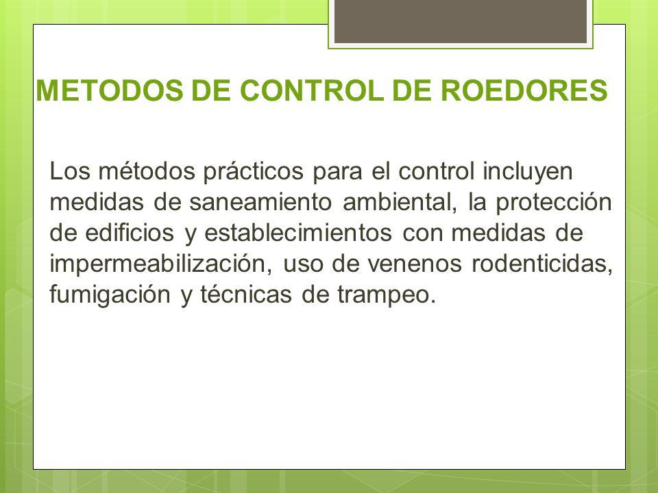 METODOS DE CONTROL DE ROEDORES