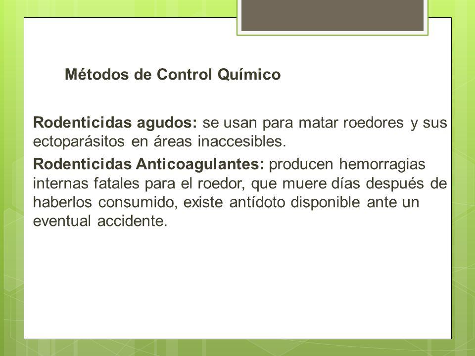 Métodos de Control Químico
