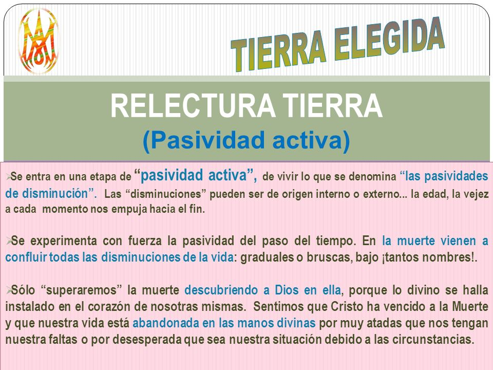 RELECTURA TIERRA (Pasividad activa)