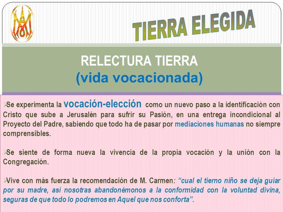 RELECTURA TIERRA (vida vocacionada)