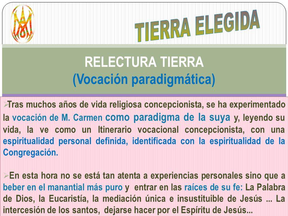 RELECTURA TIERRA (Vocación paradigmática)