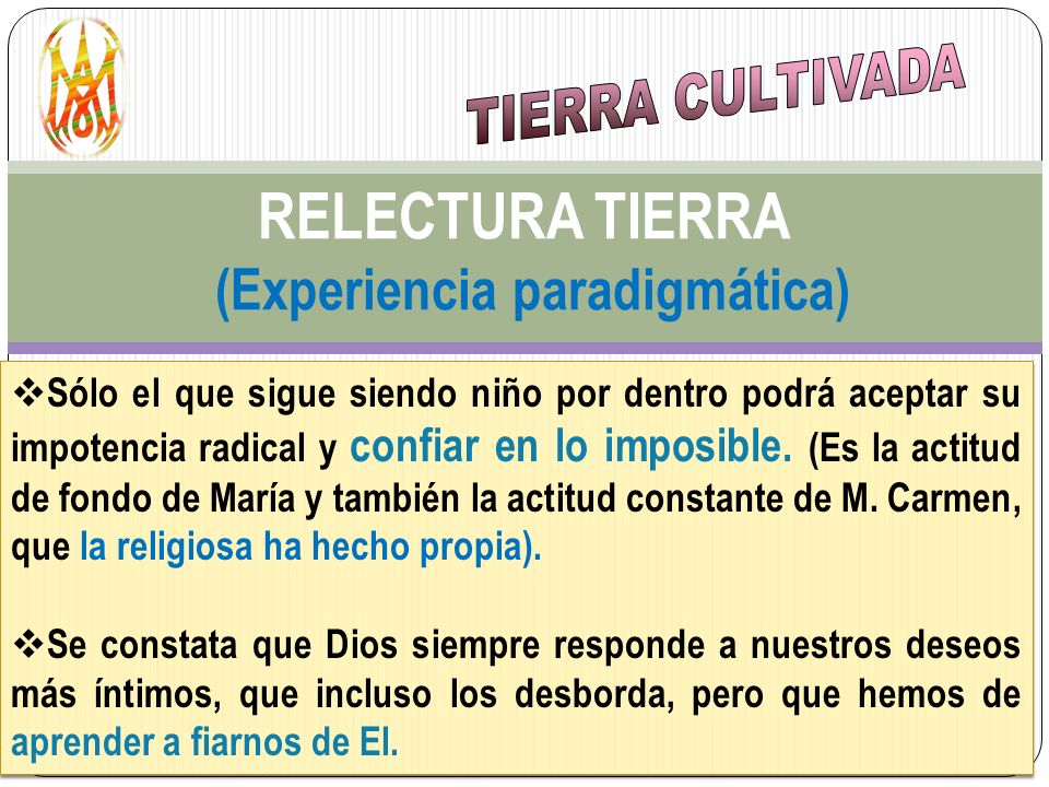 RELECTURA TIERRA (Experiencia paradigmática)