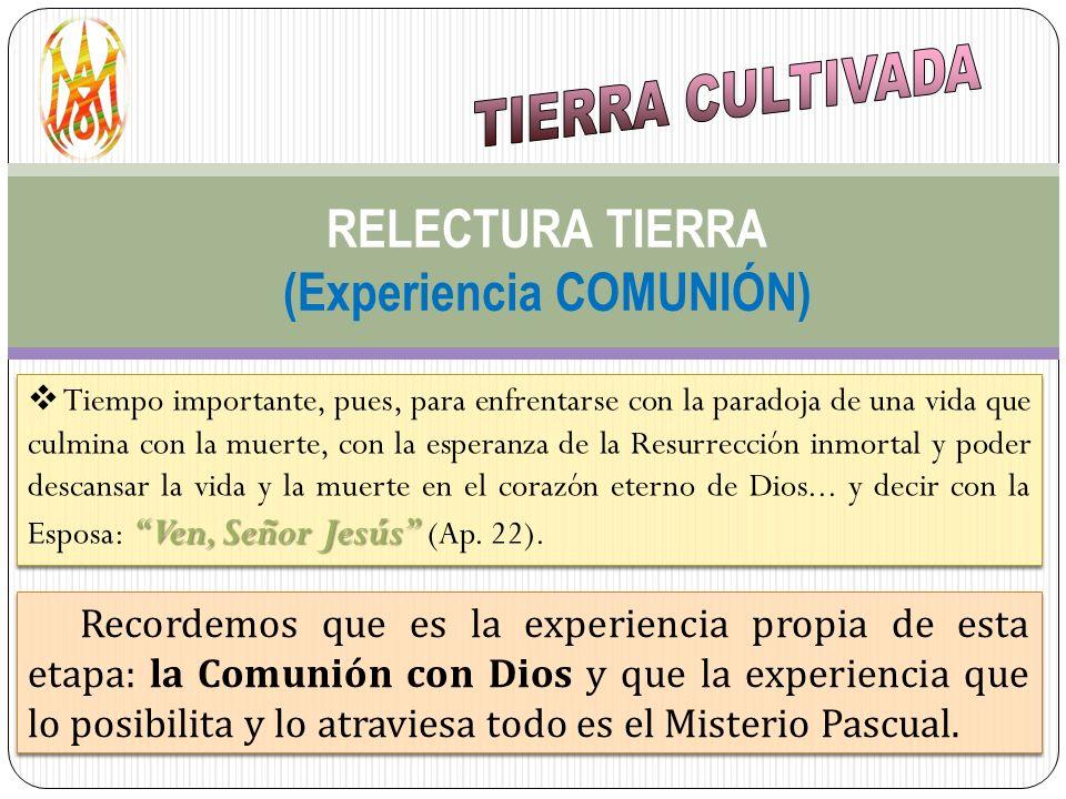 RELECTURA TIERRA (Experiencia COMUNIÓN)