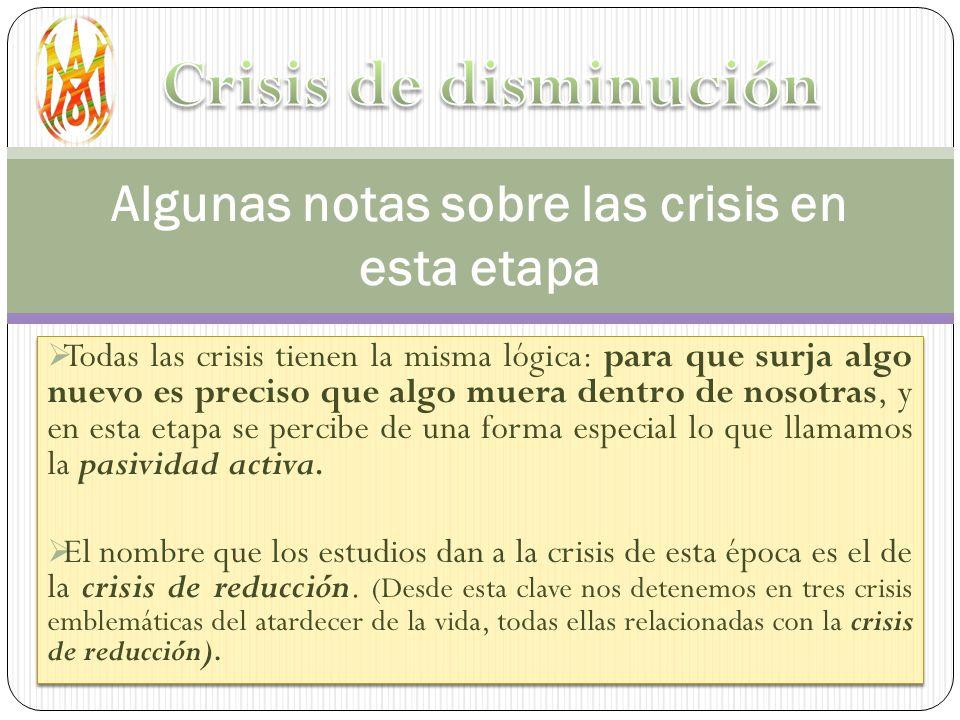 Algunas notas sobre las crisis en esta etapa