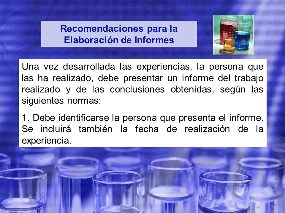 Recomendaciones para la Elaboración de Informes