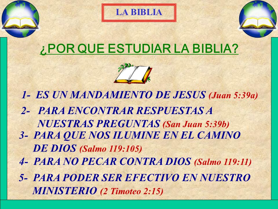 ¿POR QUE ESTUDIAR LA BIBLIA