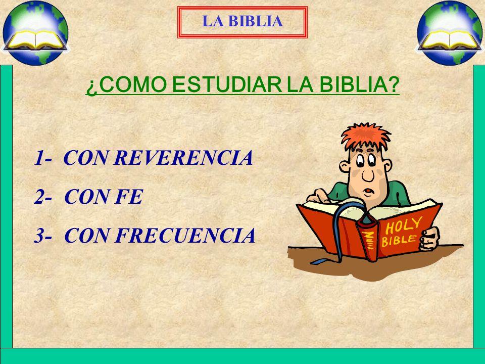 ¿COMO ESTUDIAR LA BIBLIA