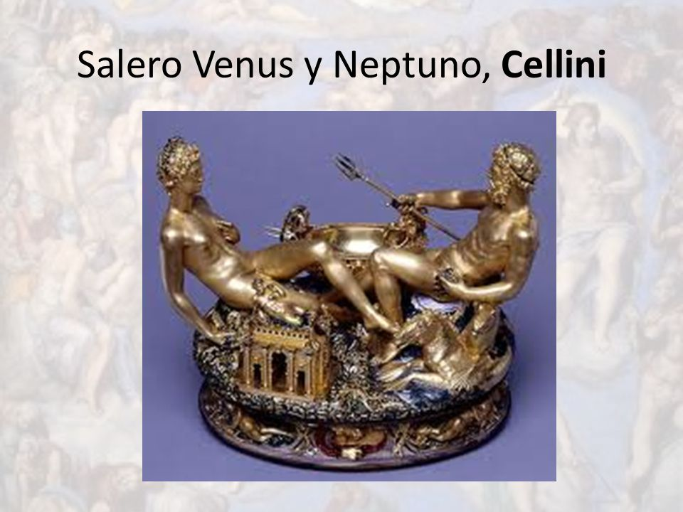 Salero Venus y Neptuno, Cellini