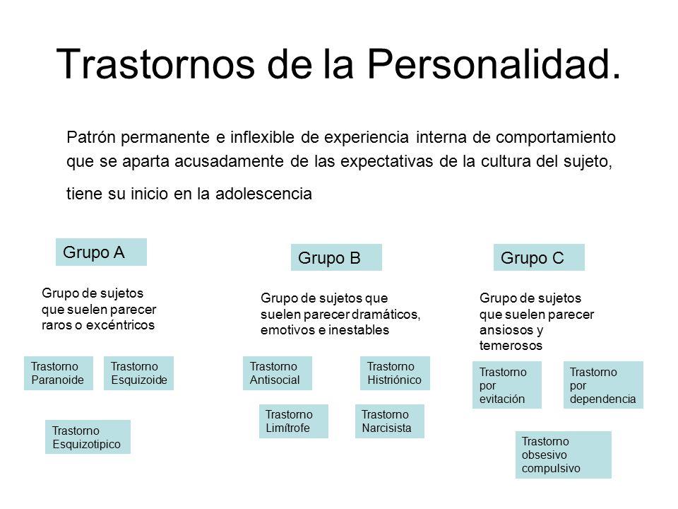 Trastornos de la Personalidad.