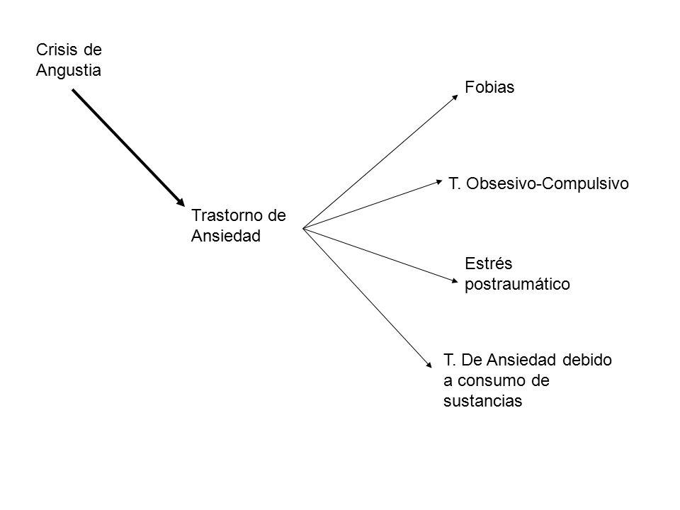 Crisis de Angustia Fobias. T. Obsesivo-Compulsivo.
