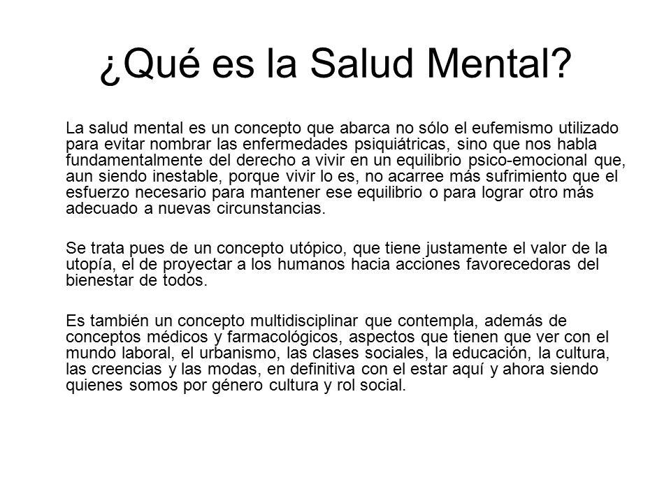 ¿Qué es la Salud Mental