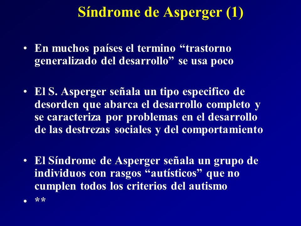 Síndrome de Asperger (1)