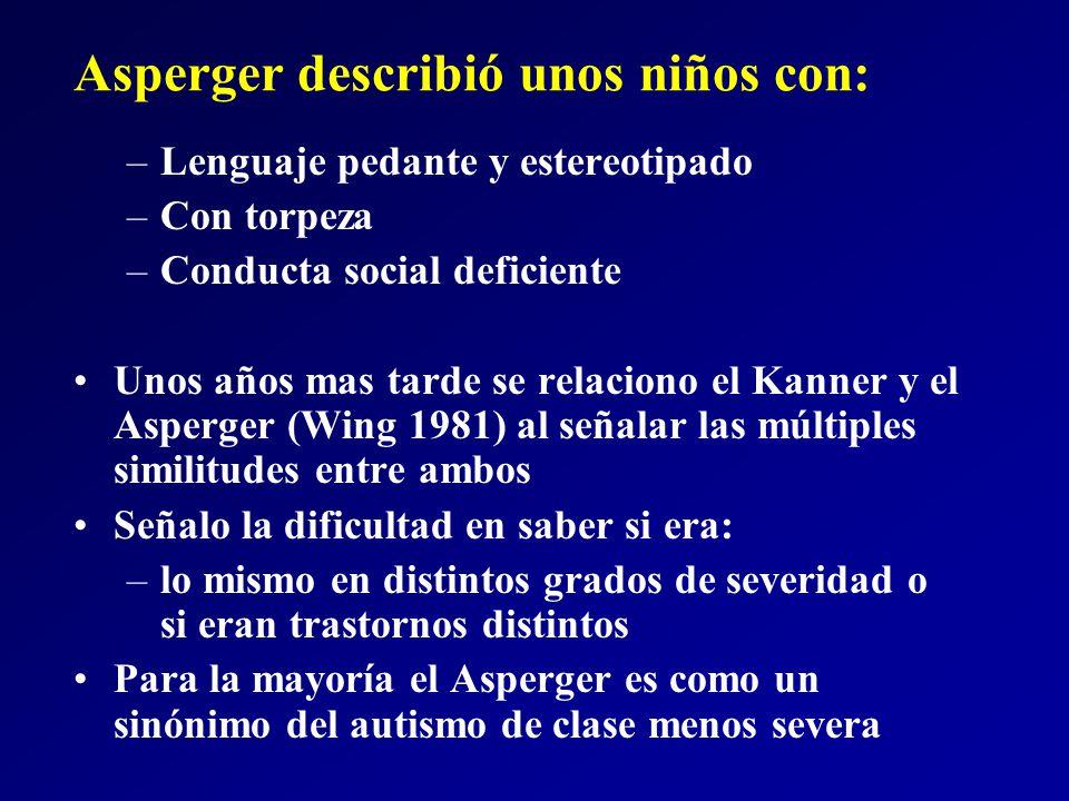 Asperger describió unos niños con:
