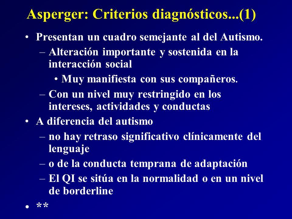Asperger: Criterios diagnósticos...(1)