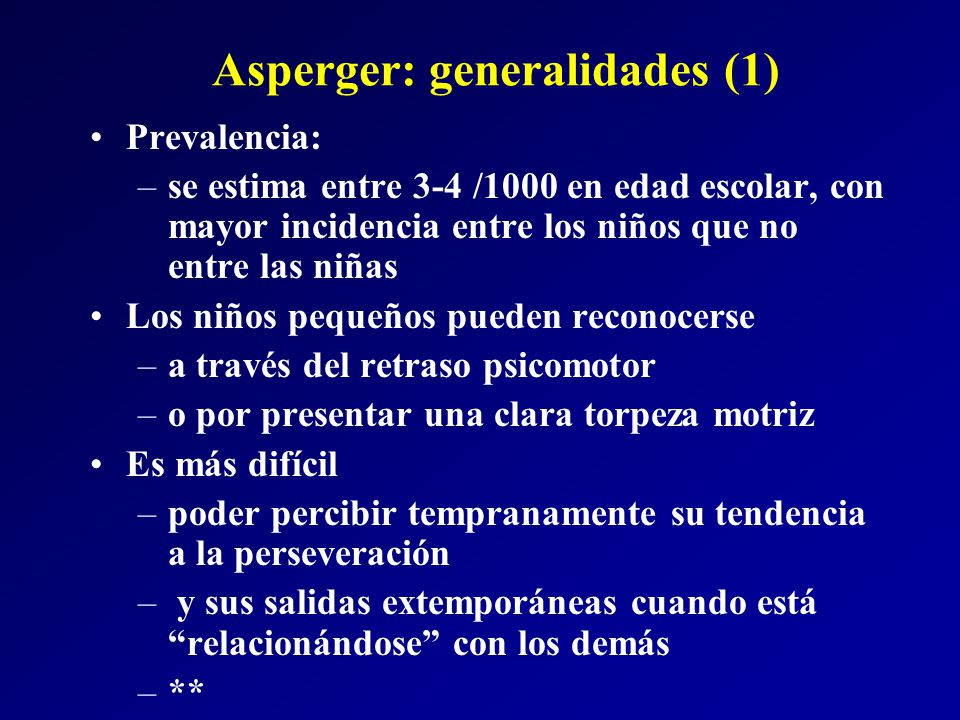 Asperger: generalidades (1)