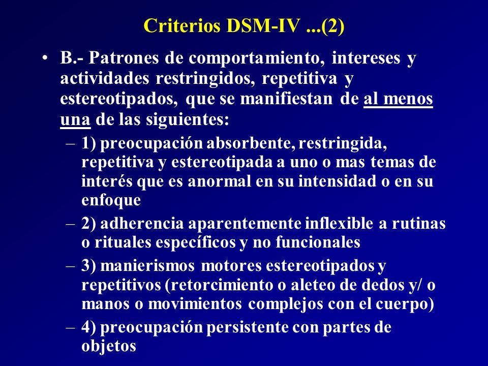 Criterios DSM-IV ...(2)