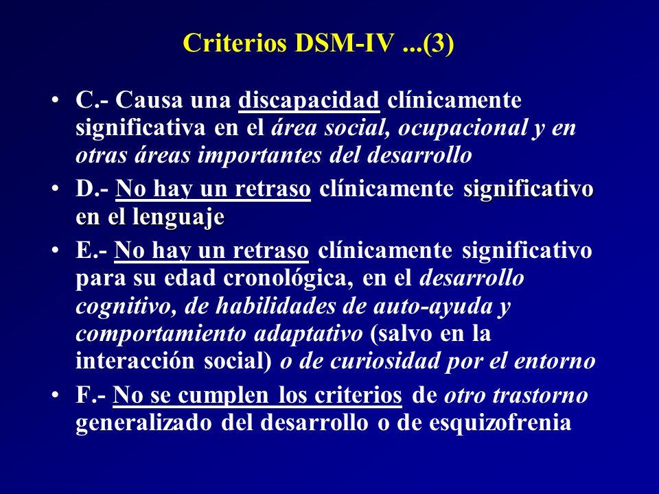 Criterios DSM-IV ...(3)