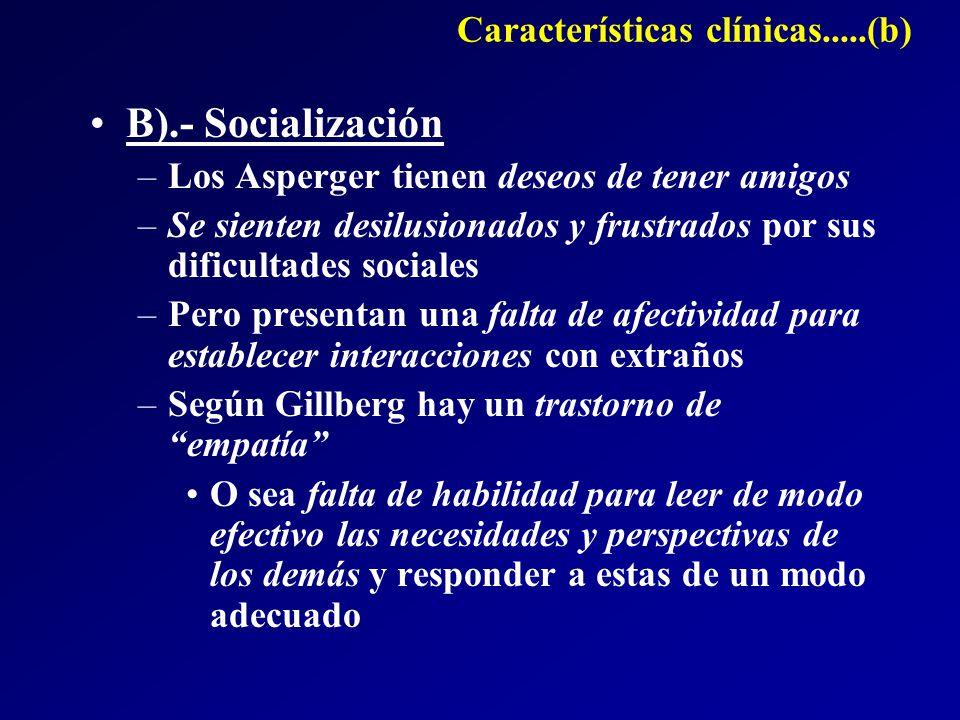 Características clínicas.....(b)