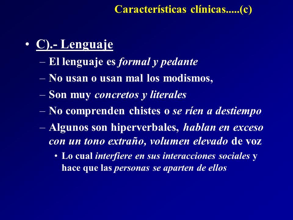 Características clínicas.....(c)