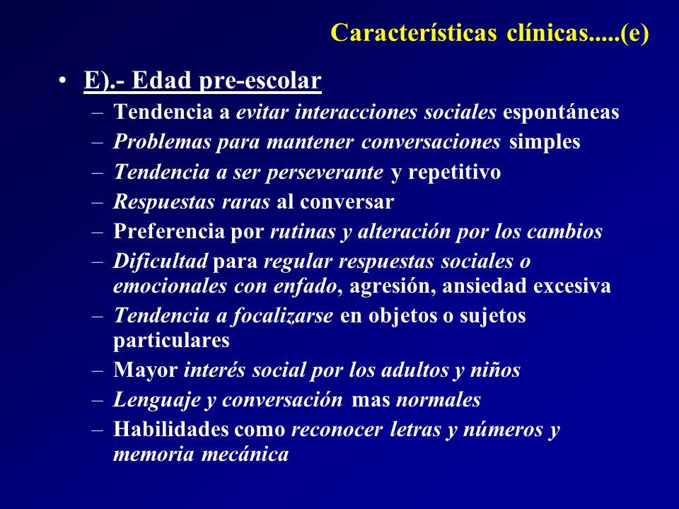 Características clínicas.....(e)