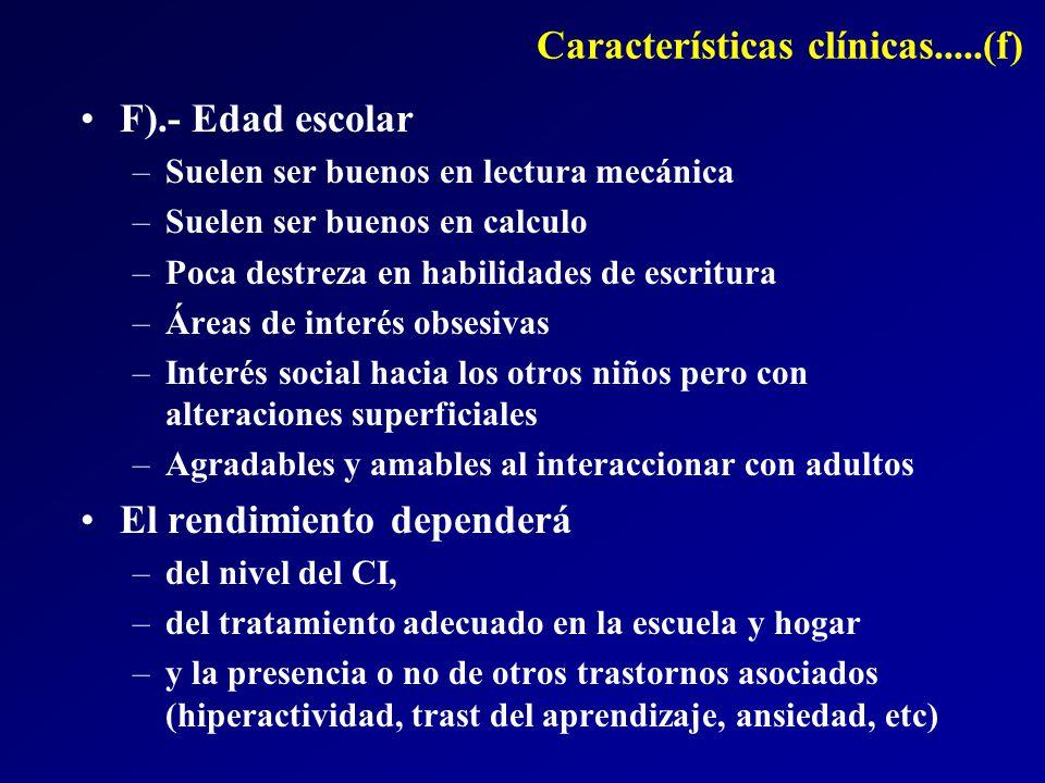 Características clínicas.....(f)