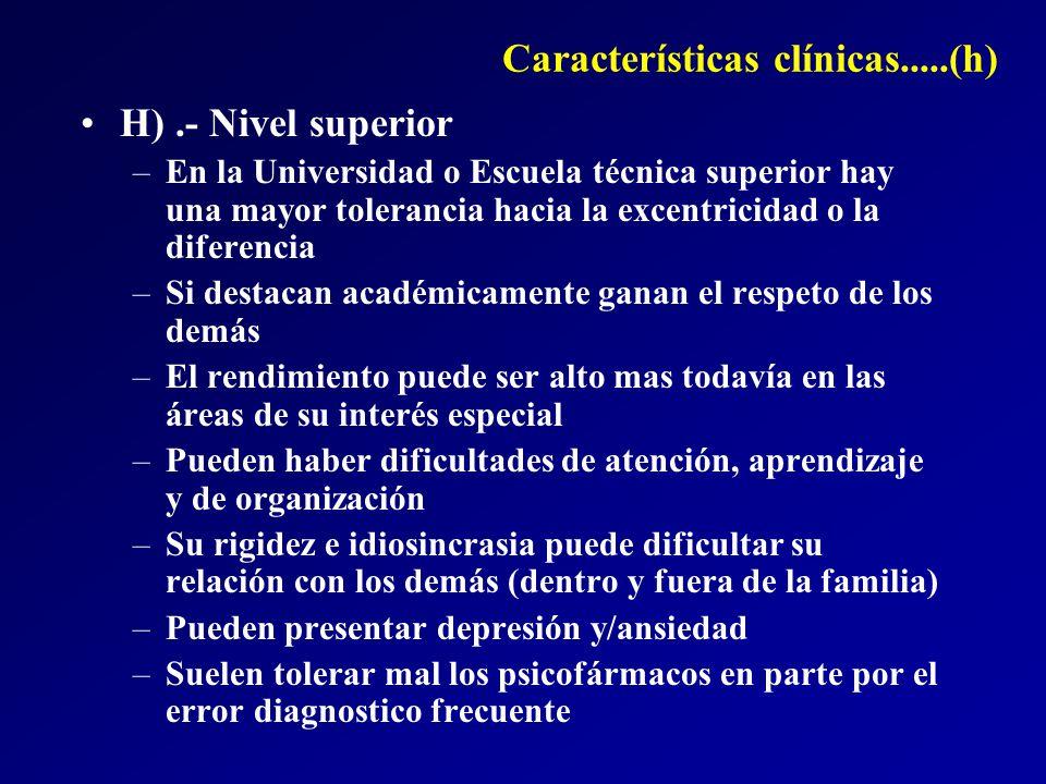 Características clínicas.....(h)