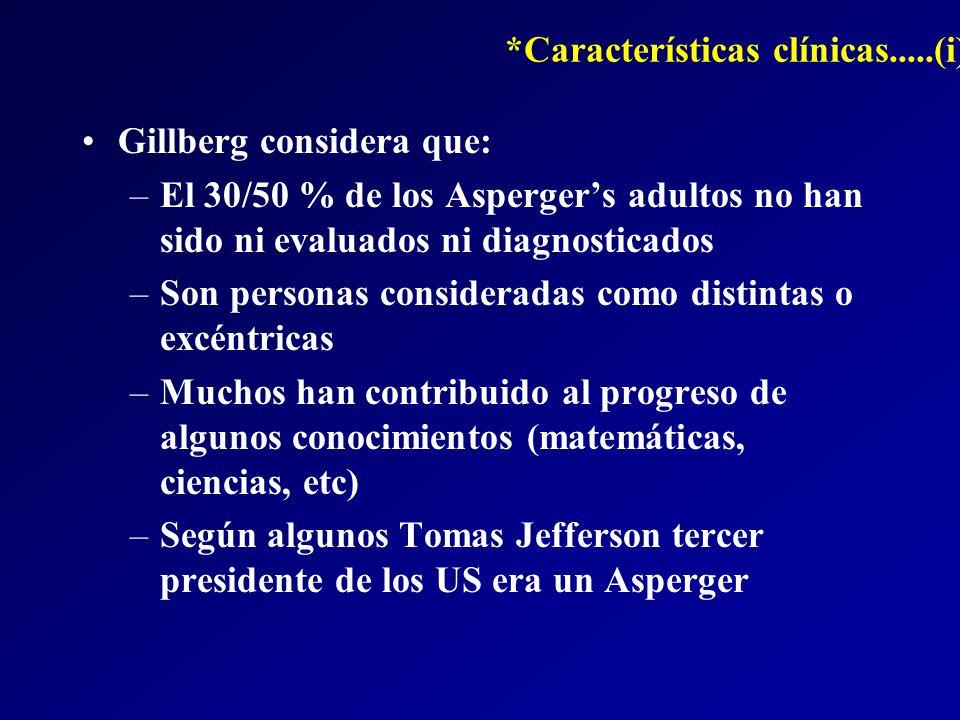 *Características clínicas.....(i)
