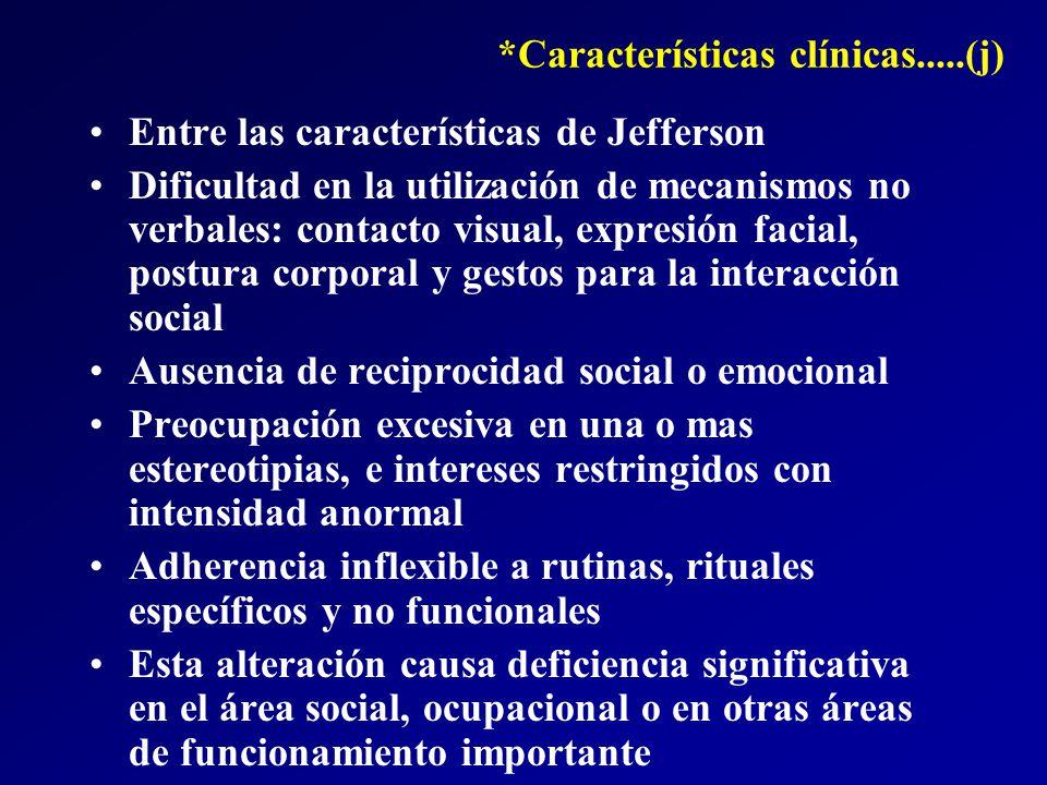 *Características clínicas.....(j)