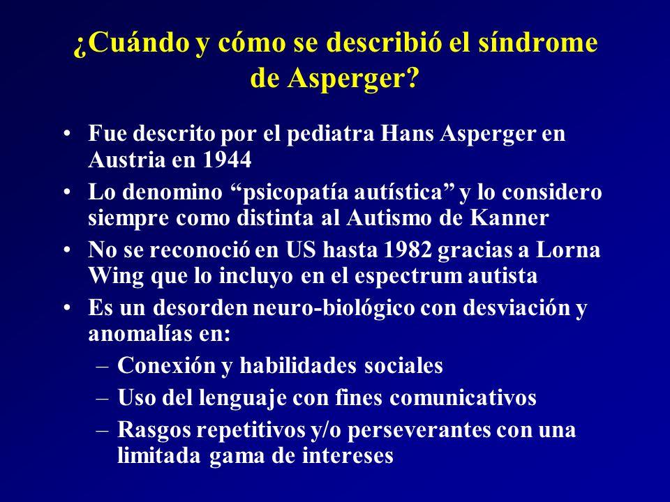 ¿Cuándo y cómo se describió el síndrome de Asperger