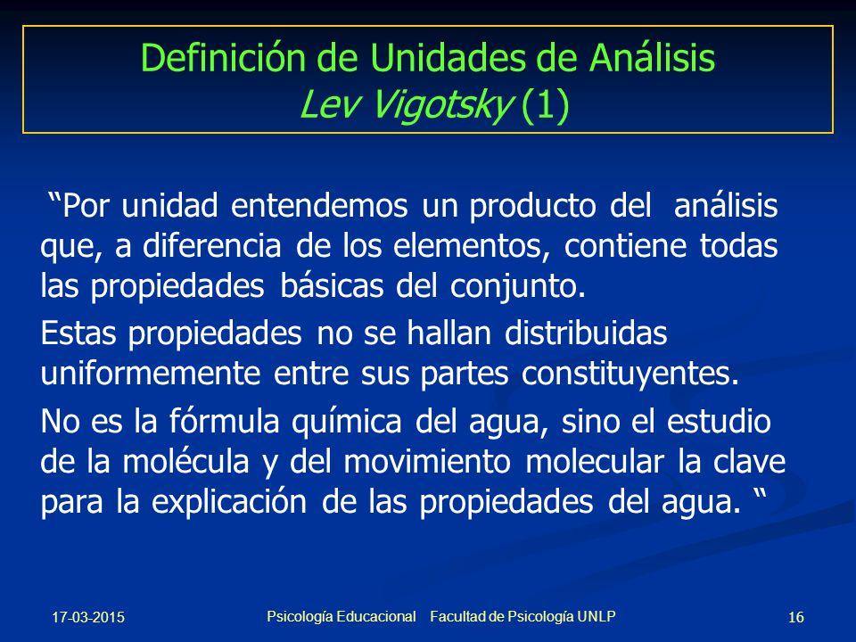 Definición de Unidades de Análisis Lev Vigotsky (1)