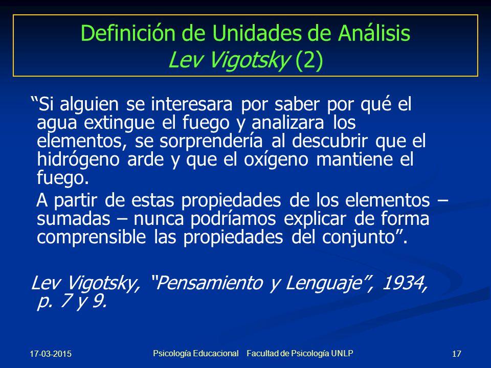 Definición de Unidades de Análisis Lev Vigotsky (2)