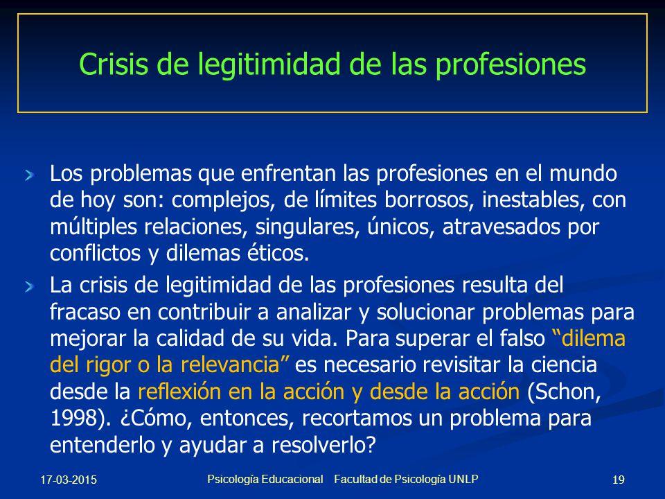 Crisis de legitimidad de las profesiones