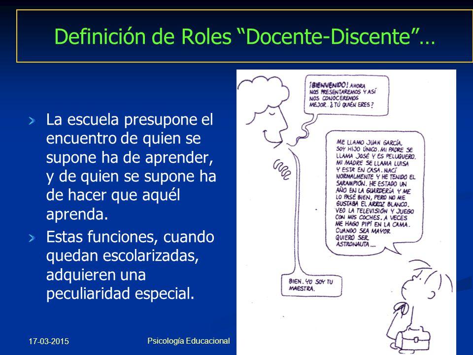 Definición de Roles Docente-Discente …