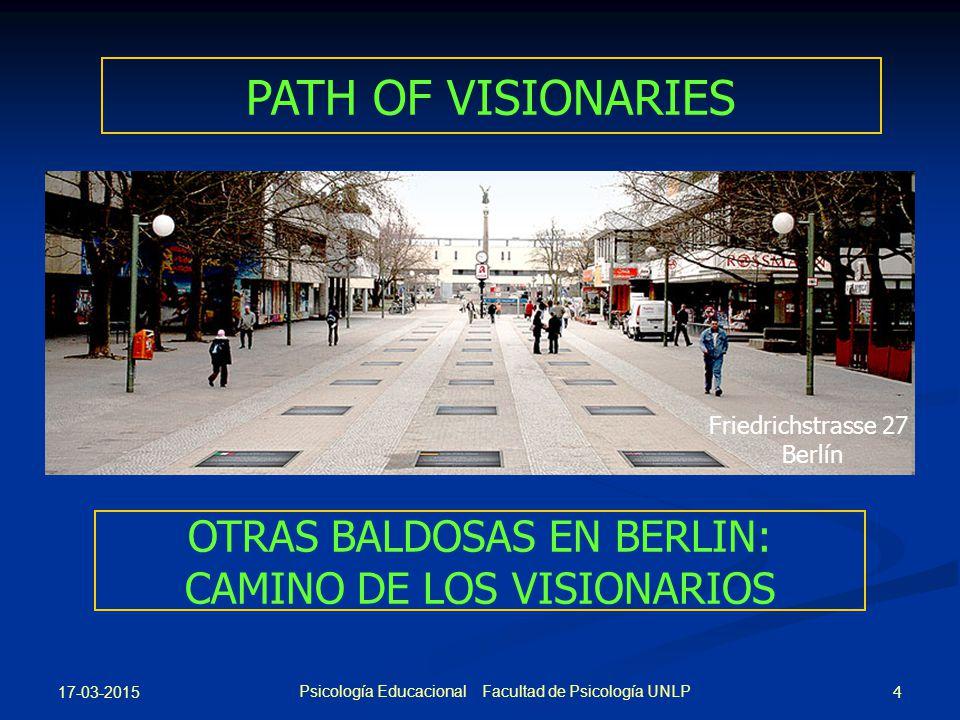 PATH OF VISIONARIES Friedrichstrasse 27. Berlín. OTRAS BALDOSAS EN BERLIN: CAMINO DE LOS VISIONARIOS.