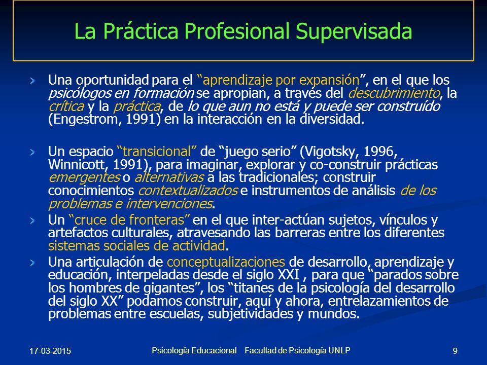 La Práctica Profesional Supervisada