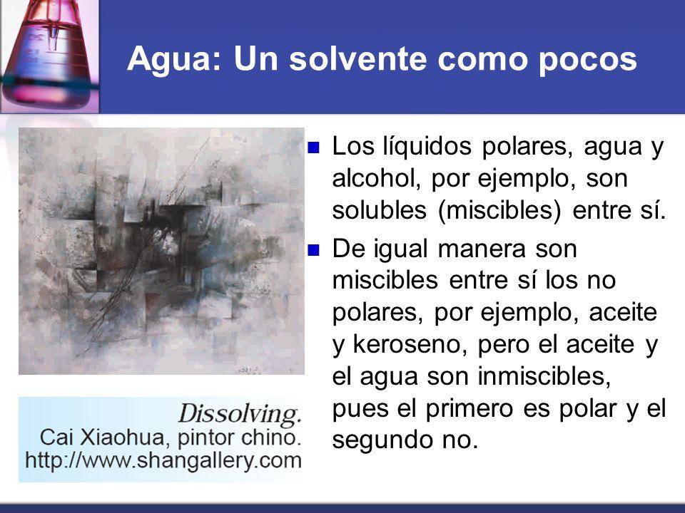 Agua: Un solvente como pocos