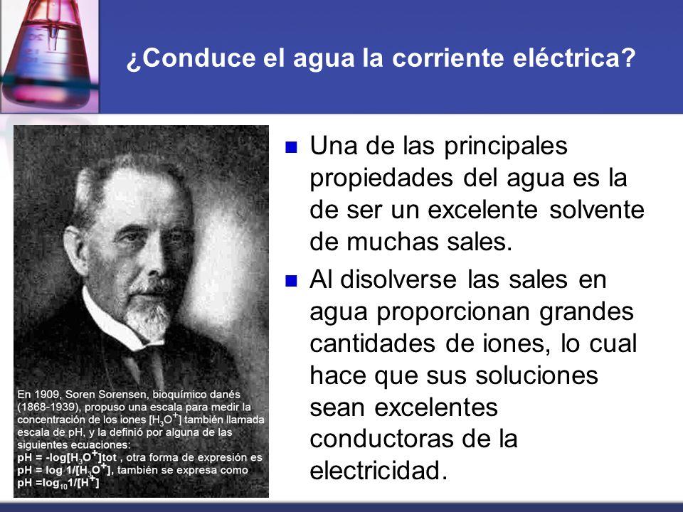 ¿Conduce el agua la corriente eléctrica