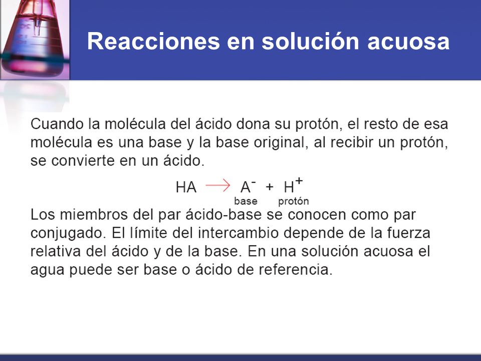 Reacciones en solución acuosa