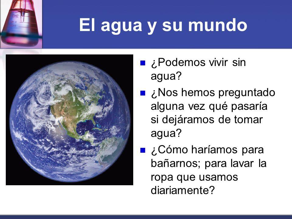 El agua y su mundo ¿Podemos vivir sin agua