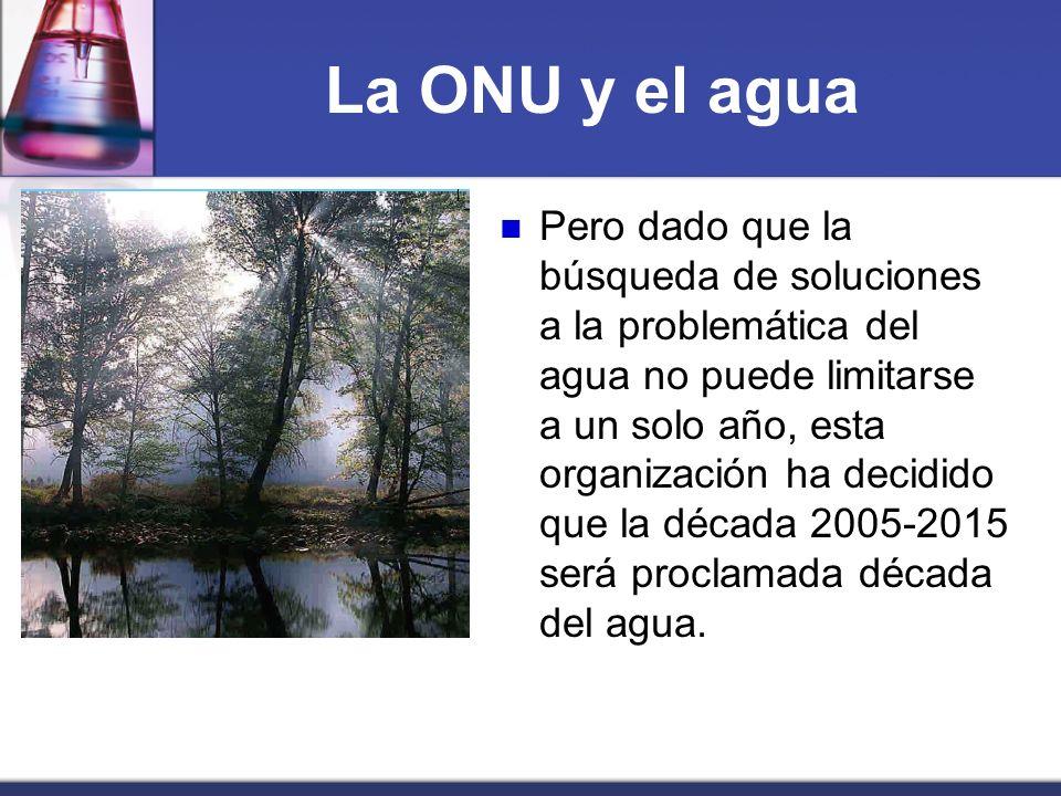 La ONU y el agua