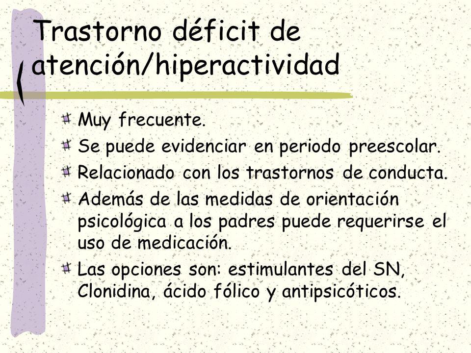 Trastorno déficit de atención/hiperactividad