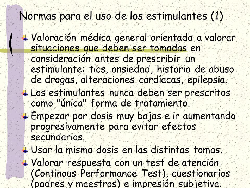 Normas para el uso de los estimulantes (1)