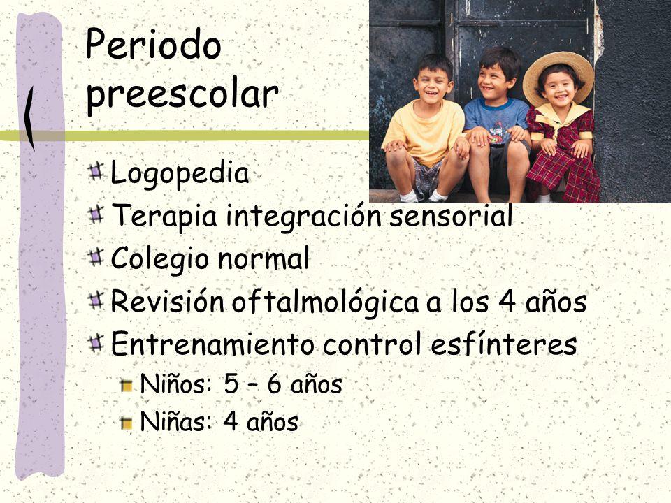 Periodo preescolar Logopedia Terapia integración sensorial